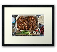 Authentic Caribbean Jerk Chicken Oven Ready Framed Print