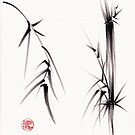 &quot;Tao&quot; Original sumi-e brush painting on paper. by Rebecca Rees
