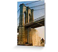 Waterfalls Under the Brooklyn Bridge Greeting Card