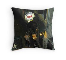 Looking Down a Venetian Alley Throw Pillow