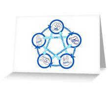 Rock Paper Scissors Lizard Spock! - In Blue!  Greeting Card