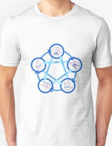 Rock Paper Scissors Lizard Spock! - In Blue!  T-Shirt
