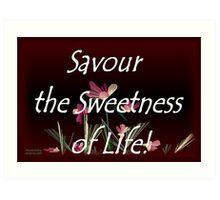 Savour the Sweetness of Life! Art Print