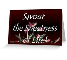 Savour the Sweetness of Life! Greeting Card