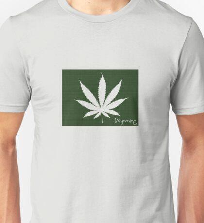 Marijuana Leaf Wyoming Unisex T-Shirt
