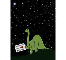 I believe in you, Pluto! Love, Brontosaurus Photographic Print
