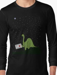 I believe in you, Pluto! Love, Brontosaurus Long Sleeve T-Shirt