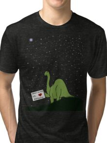 I believe in you, Pluto! Love, Brontosaurus Tri-blend T-Shirt