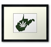 Marijuana Leaf West Virginia Framed Print