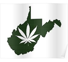 Marijuana Leaf West Virginia Poster