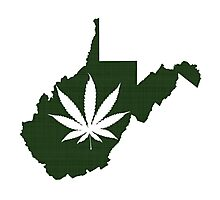 Marijuana Leaf West Virginia Photographic Print