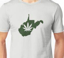 Marijuana Leaf West Virginia Unisex T-Shirt