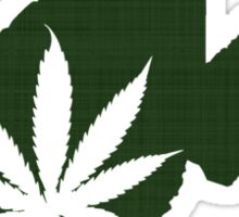 Marijuana Leaf West Virginia Sticker