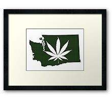 Marijuana Leaf Washington Framed Print