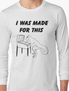 Why T-Rex has short arms! Pinball!  Long Sleeve T-Shirt