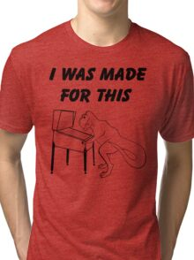 Why T-Rex has short arms! Pinball!  Tri-blend T-Shirt