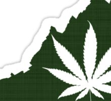 Marijuana Leaf Virginia Sticker
