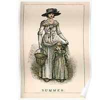 Kate Greenaway Almanack 1893 0035 Summer Poster
