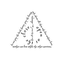 Harry Potter Deathly Hallows Quote Symbol. by cmonskinnylove
