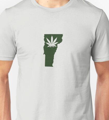 Marijuana Leaf Vermont Unisex T-Shirt