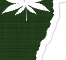 Marijuana Leaf Vermont Sticker