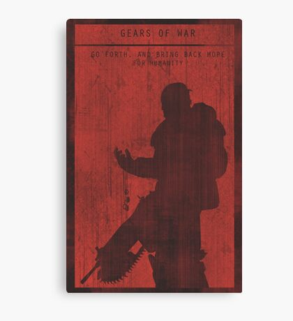 Gears of War Gaming Poster Canvas Print