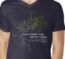 I have many Rooms - Faith Lift Mens V-Neck T-Shirt