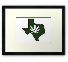 Marijuana Leaf Texas Framed Print
