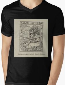 Kate Greenaway Collection 1905 0039 Book PLate for Lady Victoria Herbert Mens V-Neck T-Shirt