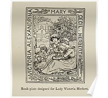 Kate Greenaway Collection 1905 0039 Book PLate for Lady Victoria Herbert Poster