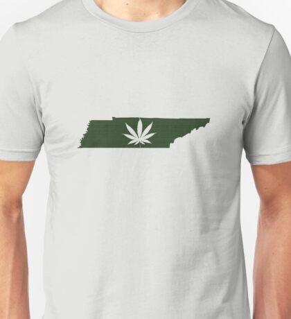 Marijuana Leaf Tennessee Unisex T-Shirt