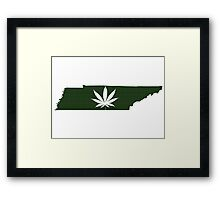 Marijuana Leaf Tennessee Framed Print
