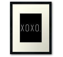 'xoxo.' Gossip Girl Framed Print