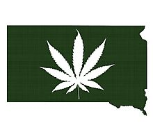Marijuana Leaf South Dakota Photographic Print