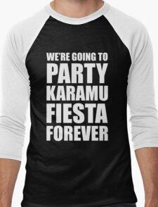 Party Karamu Fiesta Forever (White Text) Men's Baseball ¾ T-Shirt