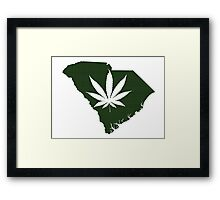 Marijuana Leaf South Carolina Framed Print