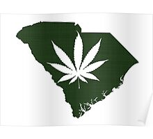 Marijuana Leaf South Carolina Poster