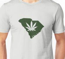 Marijuana Leaf South Carolina Unisex T-Shirt