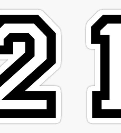 Twenty One Sticker