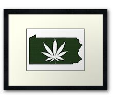 Marijuana Leaf Pennsylvania Framed Print