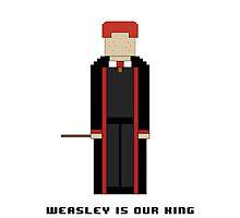 Ron Weasley 'Weasley is our King' 8-bit by cmonskinnylove
