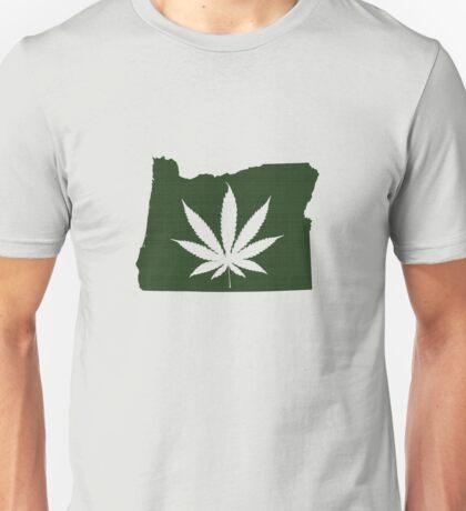 Marijuana Leaf Oregon Unisex T-Shirt