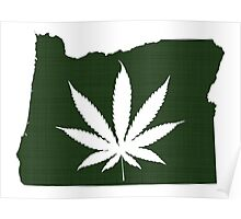 Marijuana Leaf Oregon Poster