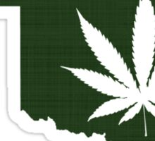 Marijuana Leaf Oklahoma Sticker