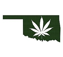 Marijuana Leaf Oklahoma Photographic Print