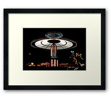 YOYO  Lights Up Cascade Carnivals Midway    Framed Print