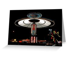 YOYO  Lights Up Cascade Carnivals Midway    Greeting Card