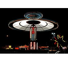 YOYO  Lights Up Cascade Carnivals Midway    Photographic Print
