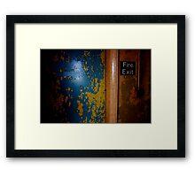 Fire exit Framed Print