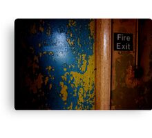 Fire exit Canvas Print